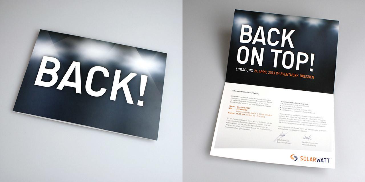 BACK ON TOP! 20 Jahre Firmenjubiläum 2013