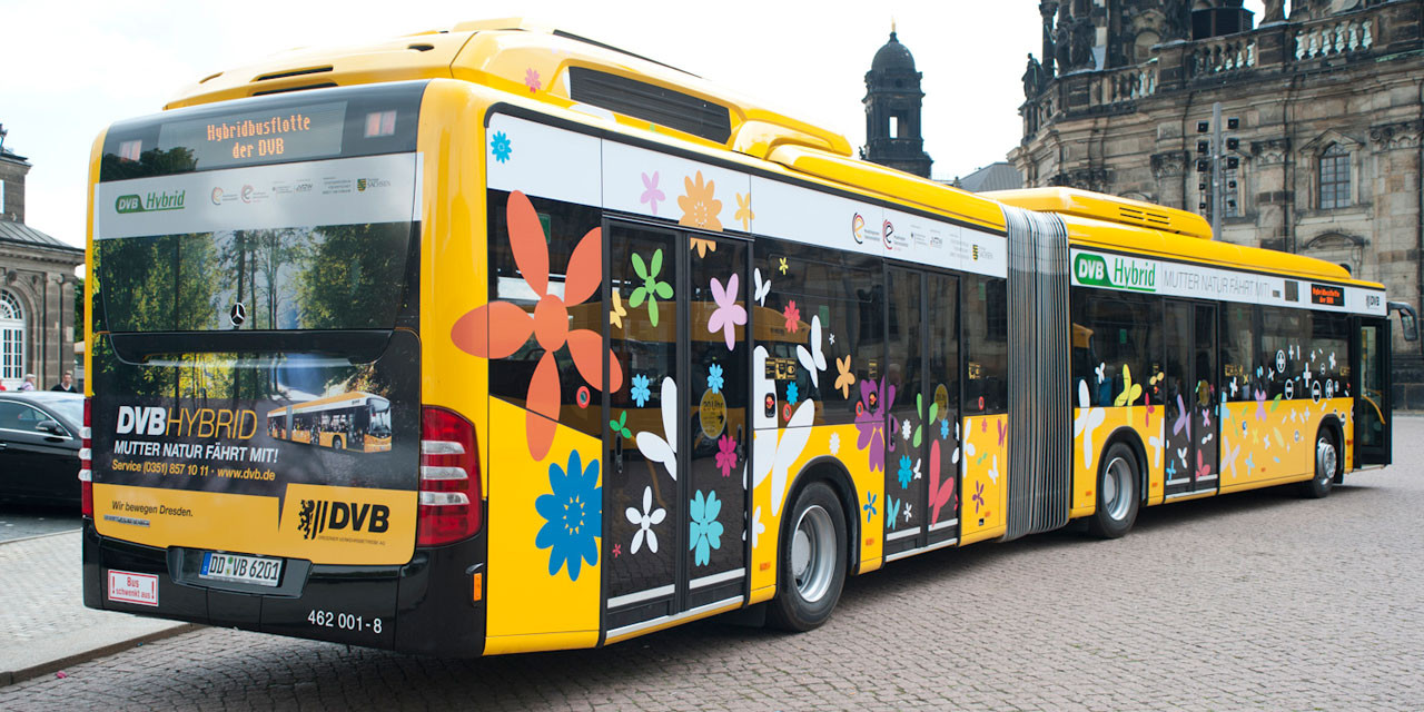 Fahrzeuggestaltung Hybridbus (Foto: Stefan Hopf)