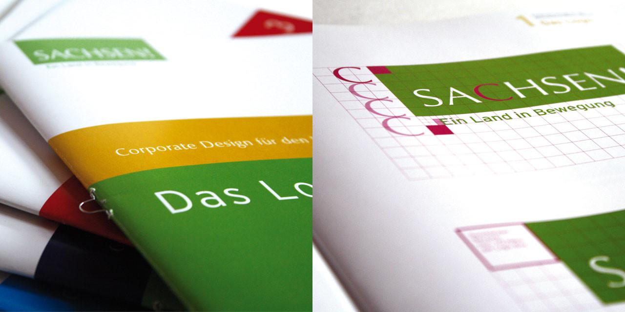 Entwicklung und Überarbeitung des Corporate Design für den Messeauftritt des Freistaates Sachsen