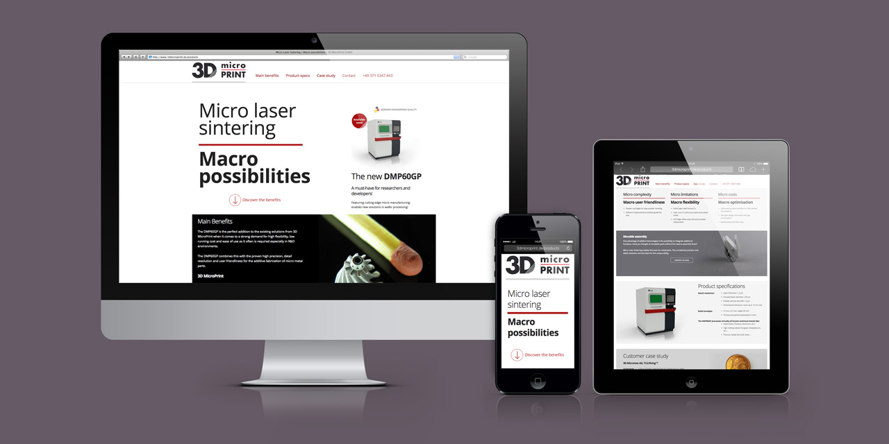 3D MicroPrint | Der Onepager