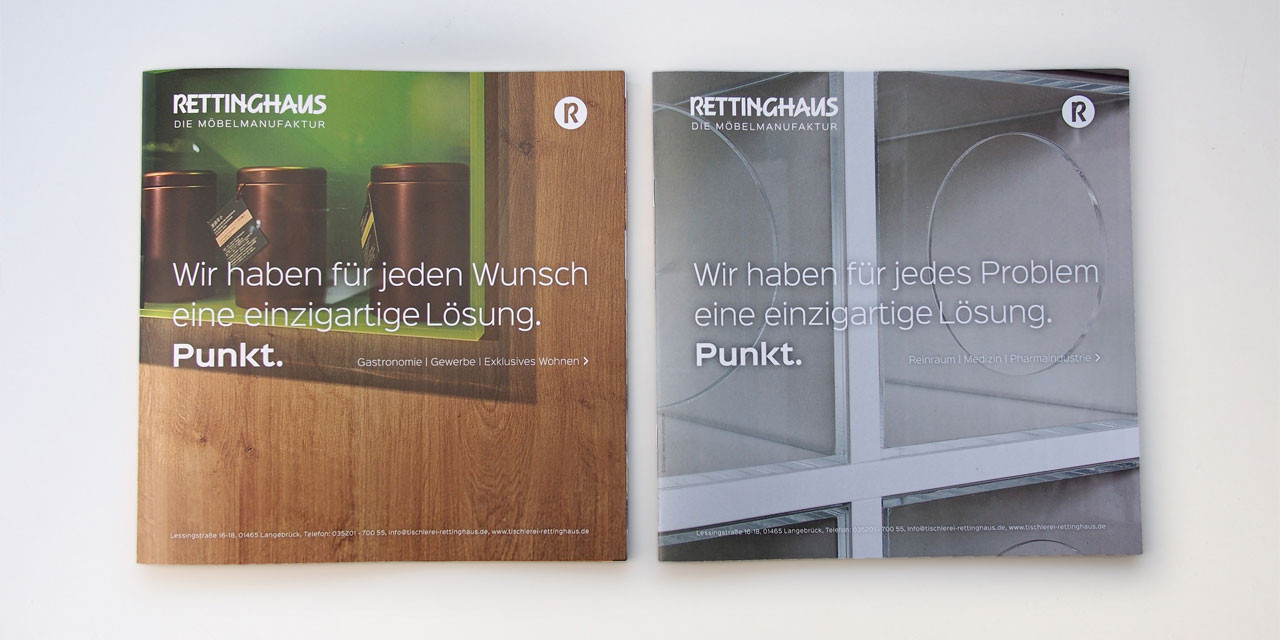 Broschüre mit zwei Titelseiten zum Wenden