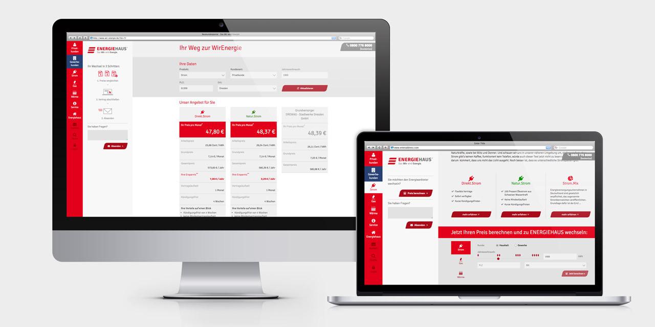 Die neue Website mit komplett überarbeiteter Orderstrecke