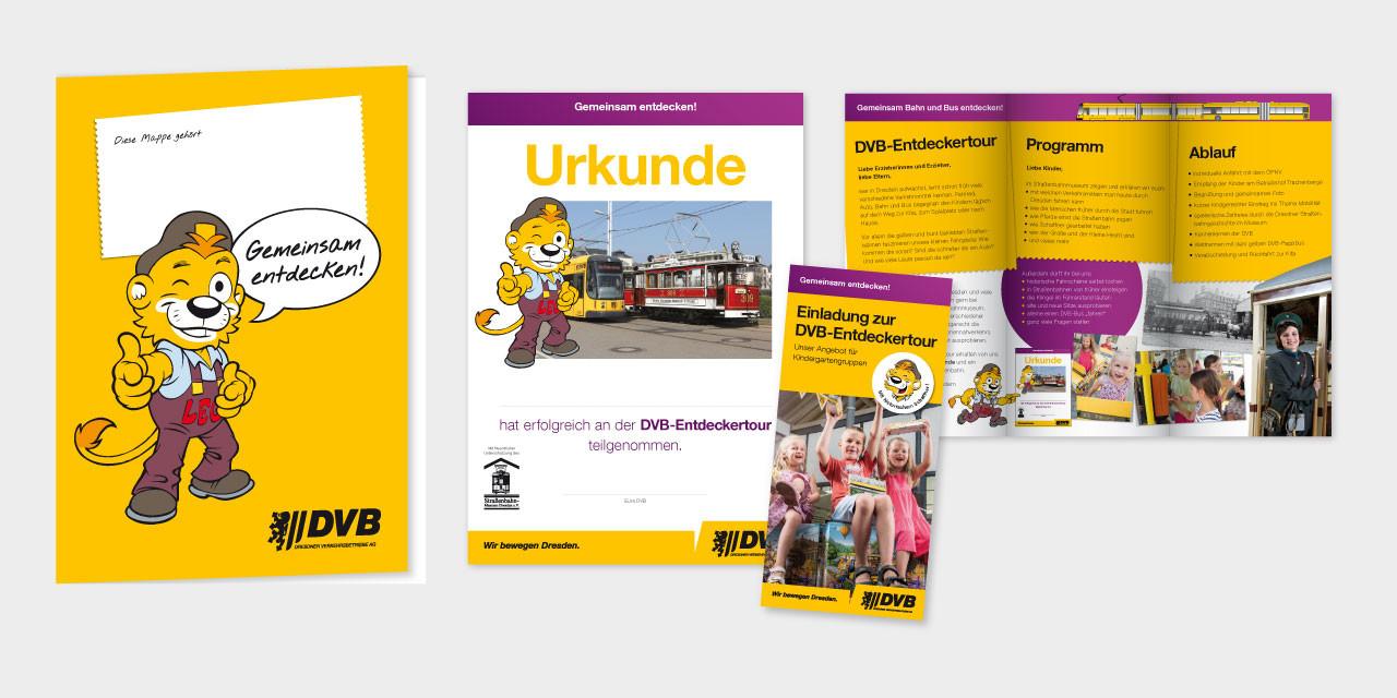 Für die Vorschule: Mappe, Urkunde für Kinder und Infoflyer