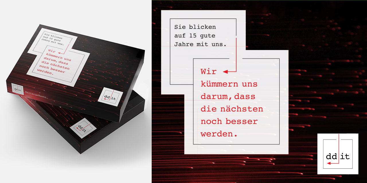 Faltbox für den Geschäftsbericht