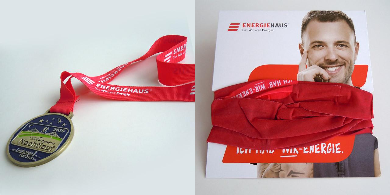 Energiehaus High5! Medaillenband und Tuch