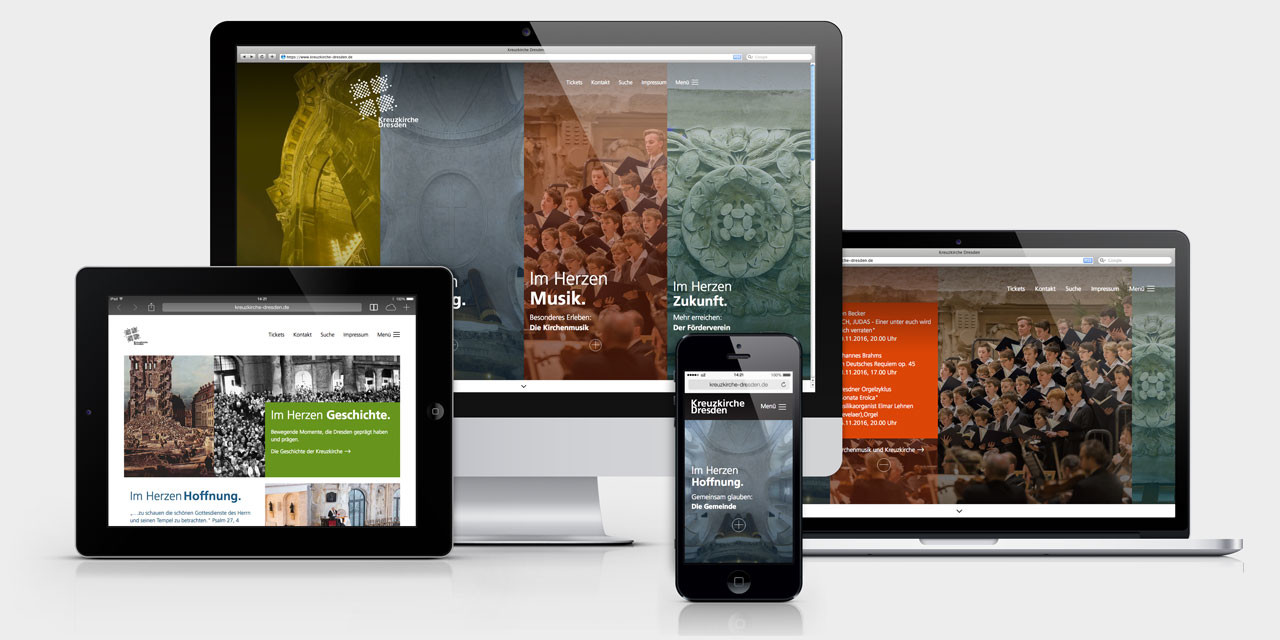 Die neue, responsive Website