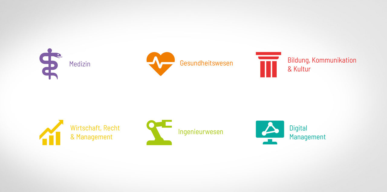 … Icons für die Fachbereiche