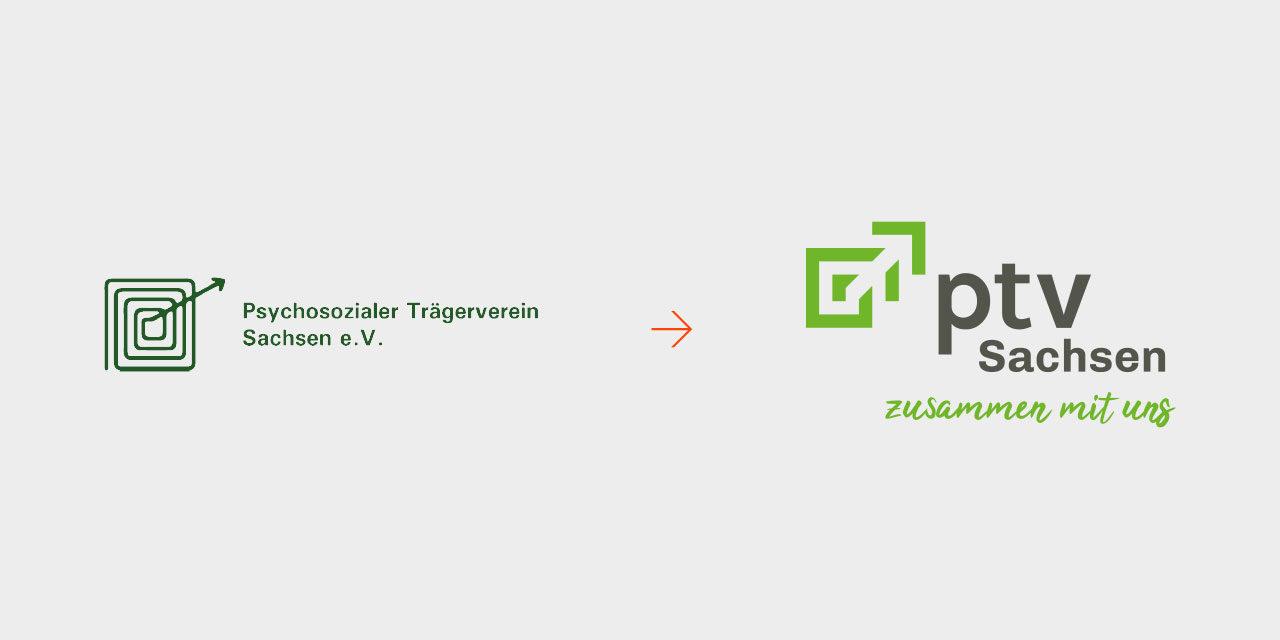 Das neue Logo von ptv im Vorher-Nachher-Vergleich