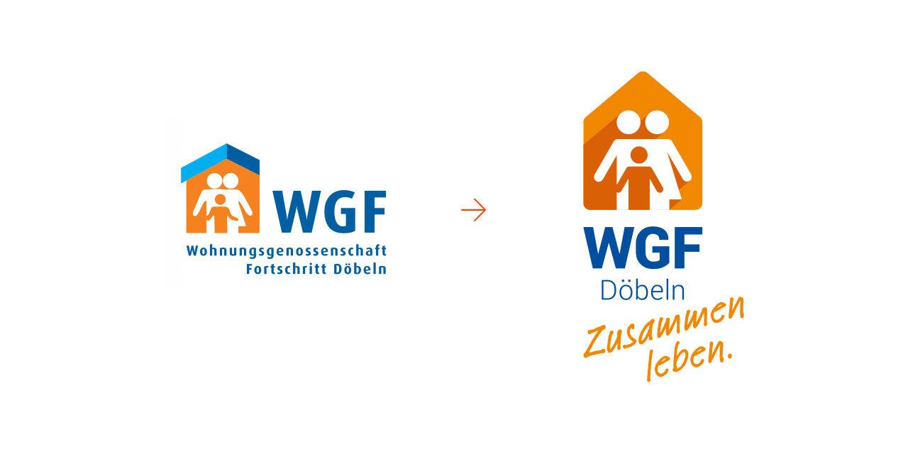 Das neue Logo der WGF im Vorher-Nachher-Vergleich