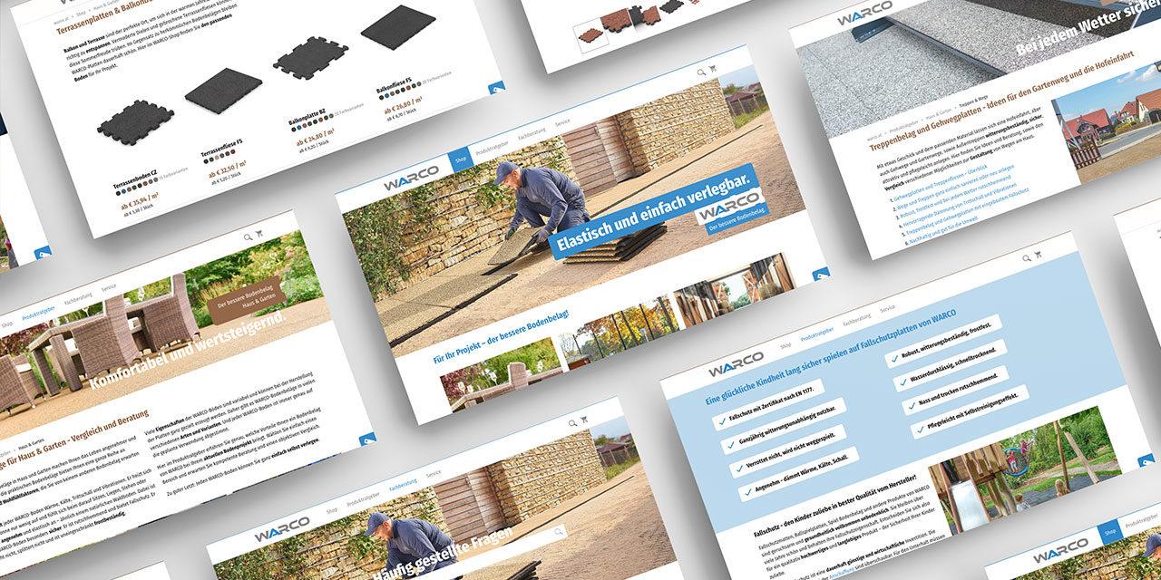 Die Website mit Produktberater und Shop