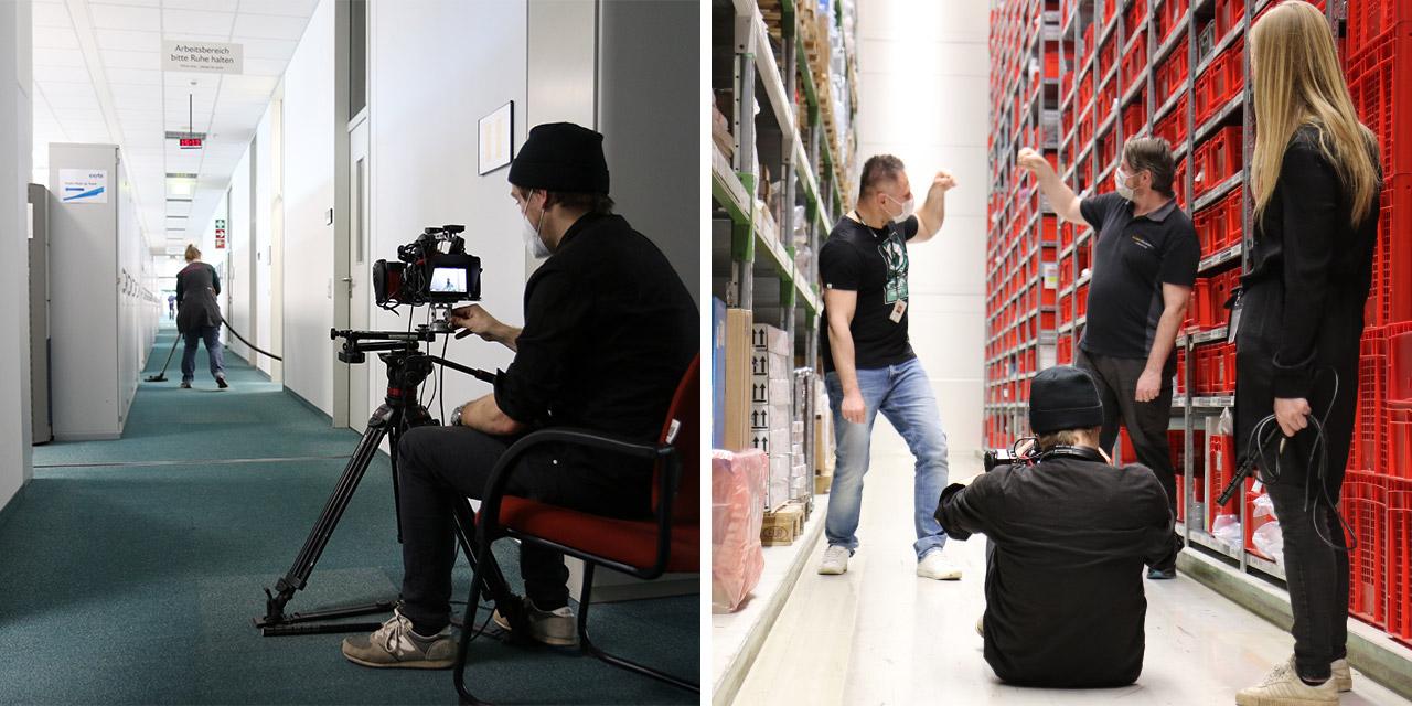 Das Team von ravir film GbR drehte noch professionelles Filmmaterial von MitarbeiterInnen und Orten.