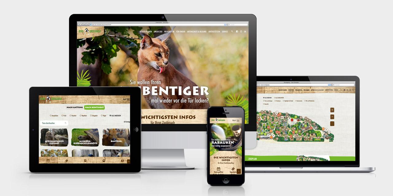 Die neue Zoo-Website lässt sich auch auf mobilen Geräten großartig durchforsten.